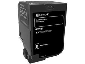 Lexmark Black Return Program Toner Cartridge for US Government, 3000 Yield (74C00KG)