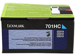 Lexmark 70C1HC0 701HC Cyan High Yield Return Program Toner Cartridge