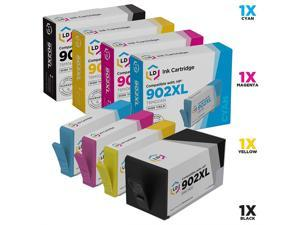 EVESKY LD Compatible Ink Cartridge Replacements for HP 902XL High Yield (1 Black, 1 Cyan, 1 Magenta, 1 Yellow, 4-Pack)