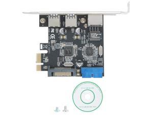 Almencla 2 Pieces PCI-E PCI-Express to USB3.1 Type C Dual Port Add on Expansion Card Adapter