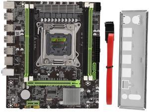 fineshelf Desktop Computer Motherboard with All Solid Capacitor Support for 771CPU and 775CPU Dual DDR3 Motherboard,Computer Component