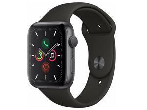Apple Watch Series 5 44mm GPS Aluminum Space Gray Black Sport Band Smartwatch