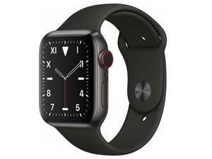 Apple Watch Series 5 44mm GPS Cellular Titanium Space Black Case Black Band