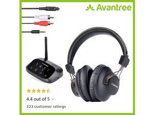 Avantree HT5009 Wireless Headphones for TV Watching w/Bluetooth Transmitter 164ft Range - Digital OPTICAL RCA AUX, Headset Hearing & Home Stereo Sound Simultaneously, 40Hrs Battery, No Audio Delay