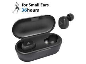 Avantree Tiny True Wireless Earbuds for Small Ear Canals, Sport Bluetooth 5.0 Earphones with Noise Isolation & Mic, Comfortable & Secure Fit, 36H In Ear Headphones with Wireless Charging Case - TWS115