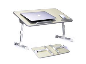 Avantree Adjustable Laptop Bed Table (Large Size), Portable Standing Desk, Foldable Sofa Breakfast Tray, Notebook Stand Reading Holder for Couch Floor Kids