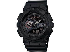 Casio GA110MB-1ACR Men's G-Shock Large Series Resin Case Resin Black Band Black Dial Watch