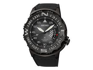 Seiko SRP579 Mens Prospex Stainless Steel Case Leather Strap Black Watch