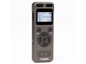 8GB Professional Audio Recorder Business Portable Digital Voice Recorder USB Support Multi-language,Tf Card to 64GB
