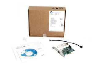 HP Broadcom NetXtreme BCM5761 5761 GBE PCI-Express Gigabit Network Card Full and Half Size Brackets RETAIL PACKAGING