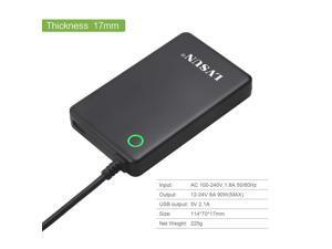 Lvsun 90 Watt Universal Notebook Charger Adapter Laptop Ac Adapter Power Supply Fit for Lenovo 20.5v, Ibm 20v, Hp/compaq 18.5v, Dell 19.5v, Toshiba 18v, Sony 16v, Acer 16v, Asus 19v, Etc