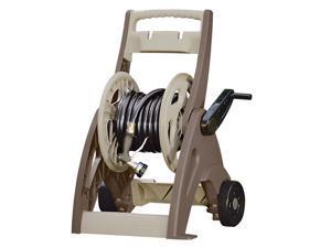 Suncast Hosemobile 175 Foot Resin Garden Hose Reel Wheeled Cart with Leader Hose