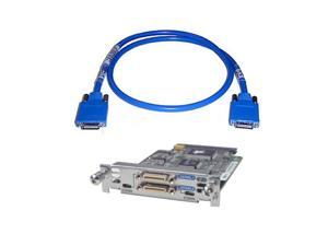 HWIC-2T Cisco 2-Port Serial WAN Interface Card w/ CAB-SS-2626X Cisco Smart Serial Crossover  x Asynchronous/Synchronous Serial Cable