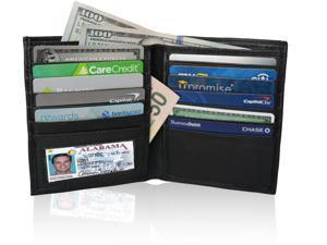 AFONiE RFID-Blocking Hipster Style Men Wallet Premium Leather