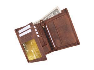 AFONiE Distressed RFID Blocking European Style Wallet