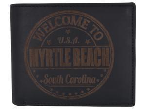 AFONiE Men Myrtle Beach Stamped Wallet w/ RFID Protection