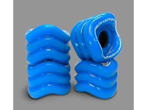 Shark Wheel Square Skateboard/Longboard Wheels (Blue 70mm Wheels)