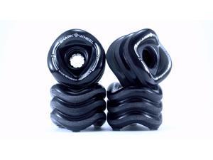 Shark Wheel 70mm, 78a Sidewinder Longboard Wheels (Black)