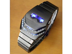 LED Electronic Watch new masked men Style Blue Light Shock-proof  Alloy & Wrist Watch