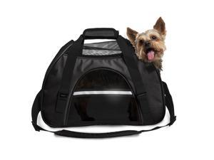 FurHaven Pet Tote | Pet Tote with Weather Guard, Black, Small