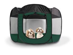 FurHaven Pet Playpen | Mesh Open-Air Dog Playpen/Exercise Pen, Hunter Green, Extra Large