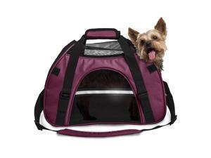 FurHaven Pet Tote | Pet Tote with Weather Guard, Raspberry, Small