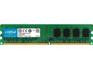 Crucial Technology CT25664AA1067 2 GB 240-pin DIMM DDR2 PC2-8500 CL=7 Unbuffered Non-ECC DDR2-1066 1.8V 256Meg x 64