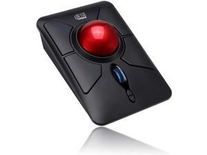 Adesso iMouse T50 Wireless Ergonomic Finger Trackball Mouse with Nano USB Receiver, Programmable 7 Button Design, and 5