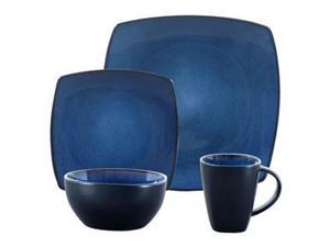 GIBSON 68632.16 SoHo Lounge Stoneware Blue16pc