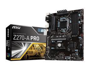 MSI PRO Z270-A PRO LGA 1151 Intel Z270 SATA 6Gb/s USB 3.1 ATX Motherboards - Intel