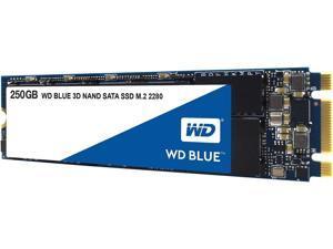 WD Blue 3D NAND 250GB PC SSD - SATA III 6 Gb/s M.2 2280 Solid State Drive - WDS250G2B0B