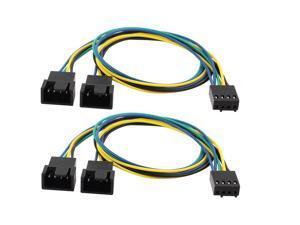 30cm PWM 3/4 pin Y Splitter Computer PC Fan Power Cable 1pcs