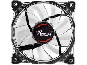 Rosewill RFA-80WL - 120mm CULLINAN Computer Case Cooling Fan with LP4 Adapter Semi-Transparent Frame & White LED Lights