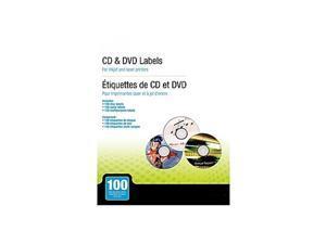 MyOfficeInnovations Laser/Inkjet Media Labels Matte White 100/Pack (12354)