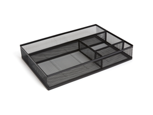 MyOfficeInnovations 4 Compartment Mesh Drawer Organizer, Matte Black 24402479