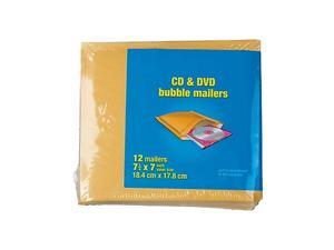 """MyOfficeInnovations CD Bubble Mailer Gold Kraft Peel and Seal Strip 7-1/4"""" x 8"""""""