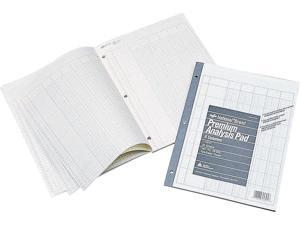 "NATIONAL Analysis Pad, 4 Columns, Green Paper, 11 x 8.5"" 50 Sheets (45604)"