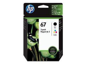 HP Inc. 67,  2-pack Black/Tri Color Original Ink Cartridges 3YP29AN