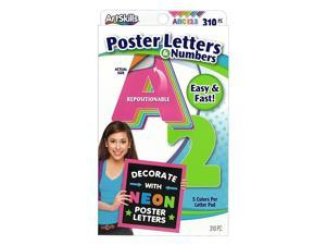 ArtSkills Text Letters and Numbers Assorted Neon Colors 636550
