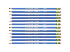 Ticonderoga Colored Pencils w/Eraser Erasable HB-Med 72/CT Blue 14209CT