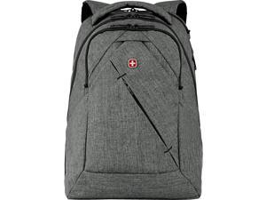 SWISSGEAR Wenger Laptop Backpack, Heather Gray Polyester (605296)