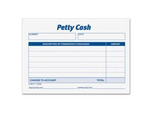 Adams Petty Cash Receipt Pad