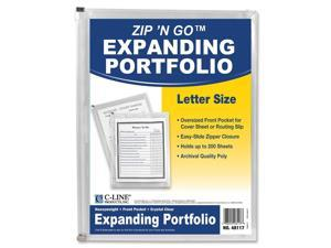 C-Line Zip 'N Go Zippered Expanding Poly Pockets