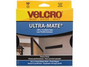 "VELCRO(R)brand ULTRA-MATE(R) Glue-On Strip 1""X10'-Black"