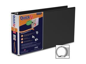 "Davis 95031L QuickFit 9500 Deluxe View Binder, 8.50"" Width x 14"" Length Sheet Size - 400 Sheet Capacity - 2 Pockets - Black - 1 Each"