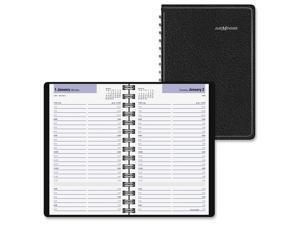 At-A-Glance Daily Appointment Book with15-Minute Appointments 8 x 4 7/8 Black