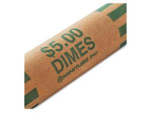 MMF Industries™ Nested Preformed Coin Wrappers Dimes $5.00 Green 1000 Wrappers