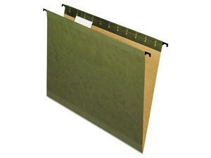 Pendaflex 615215 Poly Laminate Reinforced Hanging Folders, Letter, Green, 20/Box, 1 Box