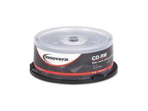 CD-RW Discs, 700MB/80min, 12x, Spindle, Silver, 25/Pack 78825