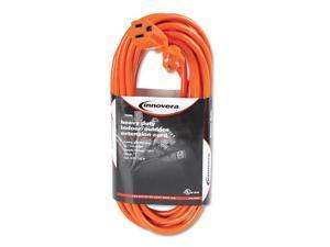 Innovera Indoor/Outdoor Extension Cord, 25 Feet, Orange